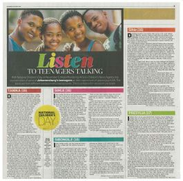 *This article was first published in the City Press, 30 October on page 5
